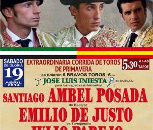 Tres diestros extremeños participan este sábado en una corrida de toros en Valencia de Alcántara