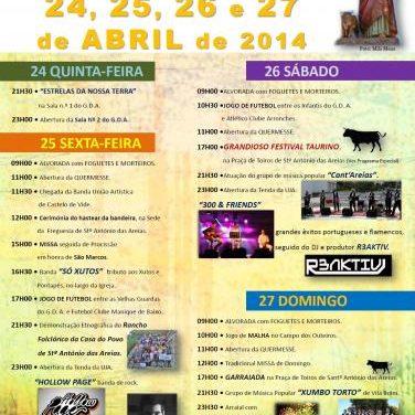 El concejo luso de Marvão celebra esta semana la Fiesta de San Marcos en San Antonio das Areias