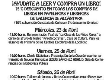 El Ayuntamiento de Valencia de Alcántara anima a los vecinos a asistir a la charla de Sánchez Adalid