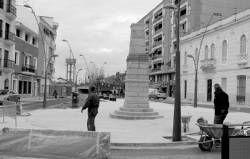 La obra en la plaza Corazón de Jesús de Villanueva de la Serena está previsto que finalice en 15 días