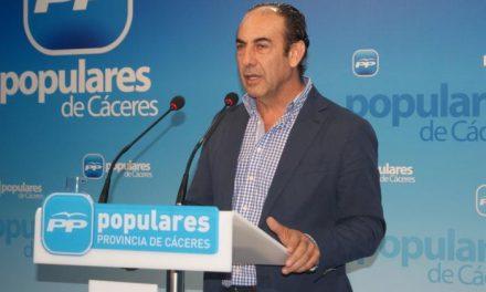 """El PP provincial destaca que la bajada del paro en abril en Cáceres """"avala el compromiso popular»"""