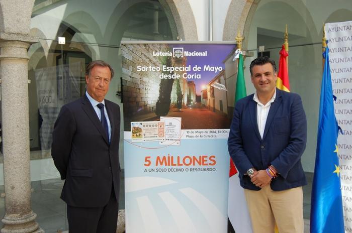 Coria acoge el próximo sábado el sorteo especial de mayo de Lotería Nacional que repartirá 84 millones