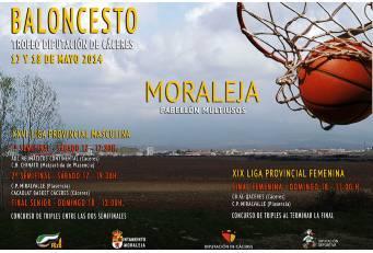 Moraleja acoge este fin de semana la fase final del XXVI Trofeo Diputación de Cáceres de Baloncesto