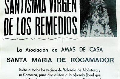 La localidad de Valencia de Alcántara celebra este sábado la ofrenda floral a la Virgen de los Remedios
