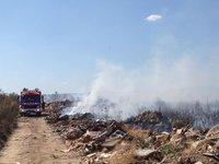 Un incendio en la escombrera de Moraleja afecta a una superficie cercana a las 20 hectáreas