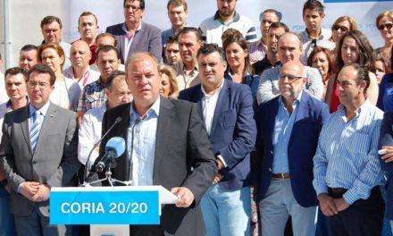 Monago alaba la gestión de Coria en la presentación de Ballestero como candidato popular a la alcaldía