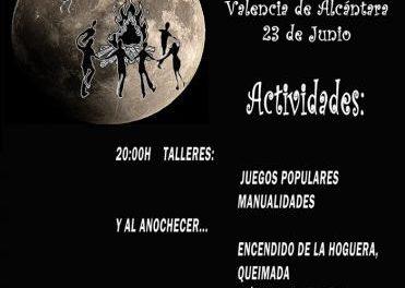 La Asociación Valentiarte de Valencia de Alcántara organiza una fiesta benéfica en la Noche de San Juan