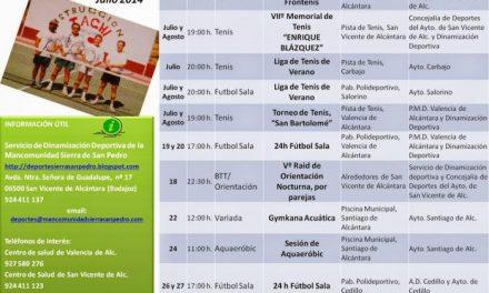 La Mancomunidad Integral Sierra de San Pedro presenta el programa de deporte para meses estivales
