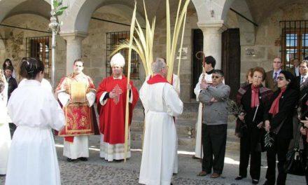 El obispo de la Diócesis de Coria-Cáceres abre los actos de la Semana Santa 2008 en la localidad cauriense