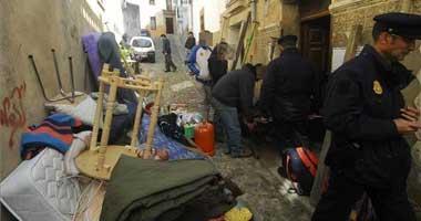 La Policía Nacional desaloja a un grupo de okupas de una vivienda de la calle Postigo de la ciudad de Cáceres