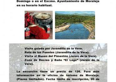 La actividad Conoce Extremadura tendrá lugar el próximo 23 de agosto en la comarca de la Vera