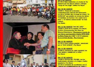 Las fiestas del Tálamo de Pescueza contarán con la presentación de un libro que recoge las costumbres locales