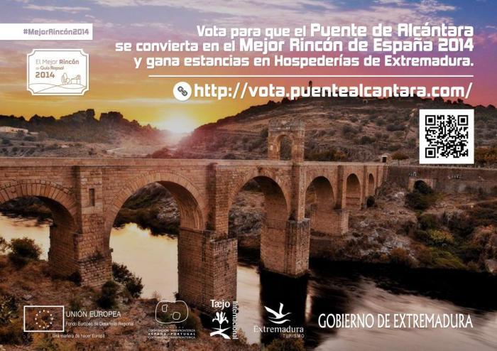 El Gobierno impulsa la promoción del Puente de Alcántara como Mejor Rincón 2014