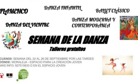 El Espacio Joven de Moraleja celebrará una semana dedicada a la danza del 22 al 26 de este mes