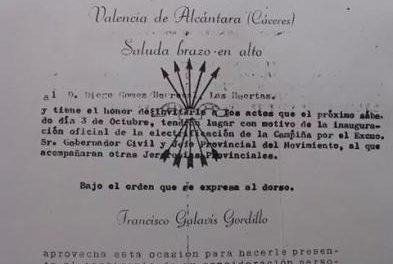 Valencia de Alcántara celebra este viernes el cincuenta aniversario de la llegada de la electricidad a la Campiña