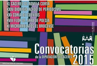 Abierto el plazo de presentación de trabajos a los Certámenes Literarios 2015 de la Diputación
