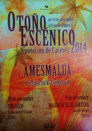 Valencia de Alcántara celebra la Constitución con un concierto solidario del grupo Amesmalúa