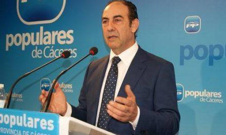 El PP insta al PSOE que deje de entorpecer la recuperación económica de la provincia de Cáceres a base de sainetes