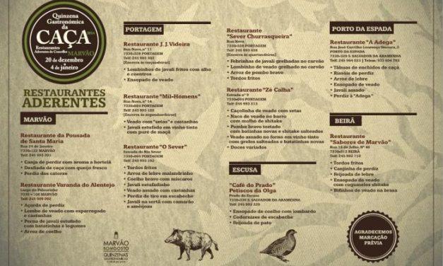 Una decena de restaurantes se suma a la Quincena Gastronómica de la Caza que organiza la villa de Marvão