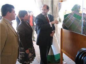 María Dolores Aguilar asiste a la inauguración de la primera fase del Parque Empresarial en Calamonte