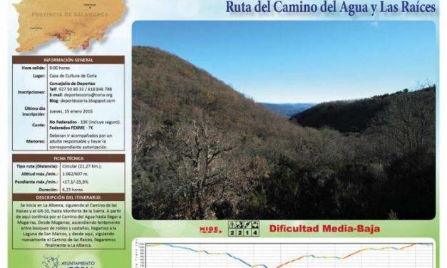 """Coria arranca con la programación deportiva de 2015 con la ruta """"Camino del agua y las raíces"""""""