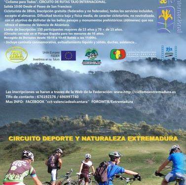 Valencia de Alcántara acogerá dos actividades para formentar la práctica del ciclismo