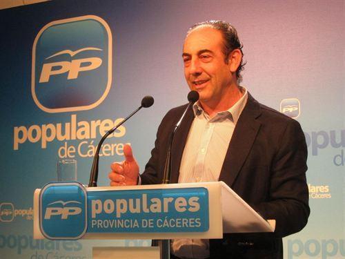 El PP afirma que Monago ofrece con la reforma fiscal garantía de futuro y más poder adquisitivo