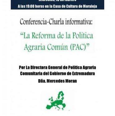 Moraleja acogerá este miércoles un coloquio sobre la reforma de la Política Agraria Comunitaria