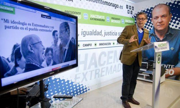 El PP extremeño presenta una web para que los ciudadanos conozcan al presidente Monago
