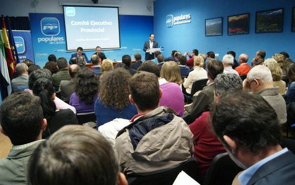 El PP de la provincia cacereña tiene ya 200 candidatos confirmados a las alcaldías de sus municipios