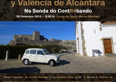 """Marvão y Valencia de Alcántara se unen con """"Slow Car"""" por la ruta del contrabando"""
