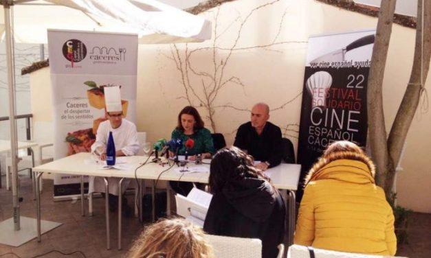 El Festival Solidario de Cine Español de Cáceres une el séptimo arte con la gastronomía