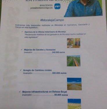 El PP recuerda a los vecinos de Moraleja las inversiones por más de 550.000 euros en materia de agricultura