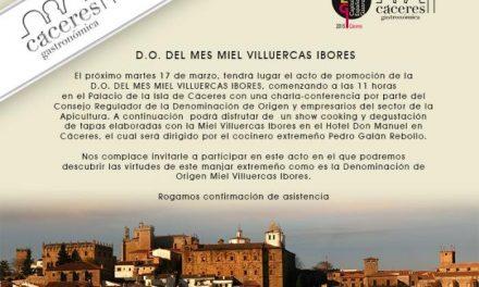 La Miel Villuercas Ibores es la Denominación de Origen de este mes en Cáceres Capital Gastronómica