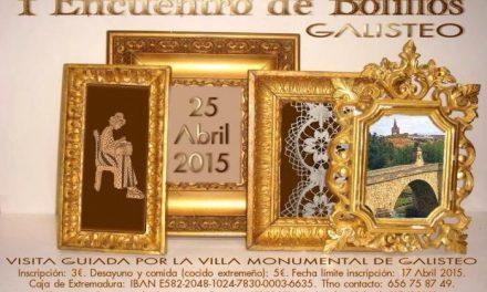 Unas 250 encajeras asistirán al I Encuentro de Bolillos que se celebrará el día 25 de abril  en la villa de Galisteo