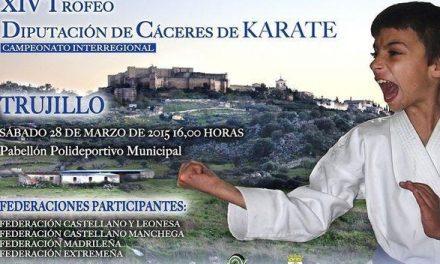 Trujillo acoge este sábado a 50 jóvenes karatecas en el XIV Trofeo Diputación de Cáceres de Kárate