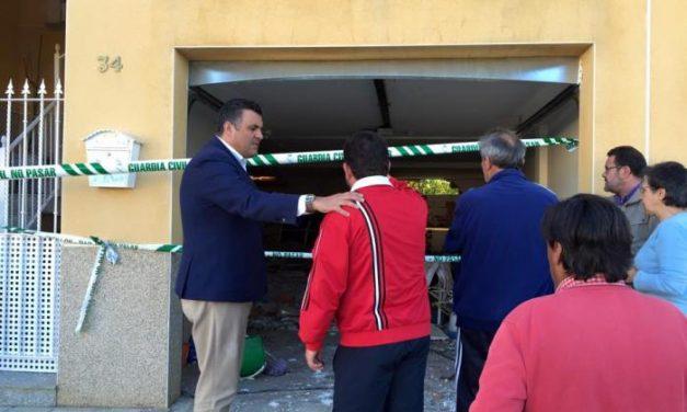 El alcalde de Coria declara que se han encontrado explosivos en la vivienda en la que se produjo la deflagración