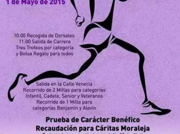 Moraleja recaudará fondos para Cáritas en la Milla Urbana que tendrá lugar el próximo 1 de mayo