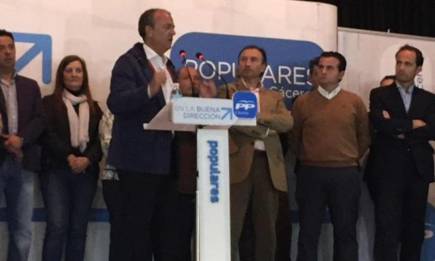 Monago acompaña a los candidatos a la alcaldía de los ayuntamientos de la comarca de Sierra de Gata