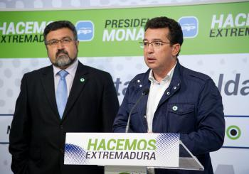 Manzano pide a los socialistas Vara y Quintana que pidan perdón a los extremeños por el caso Feval