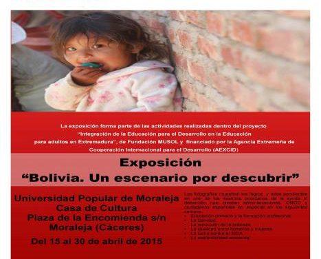 """La exposición """"Bolivia, un escenario por descubir"""" continuará en Moraleja hasta este jueves"""