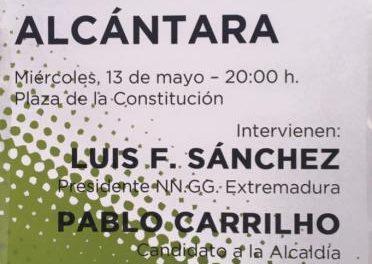 Monago acompañará este miércoles en un mitin al candidato del PP a la alcaldía de Valencia de Alcántara