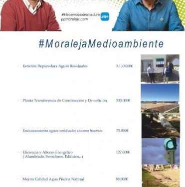Caselles confirma que se han invertido 4.500.000 de € en políticas medioambientales en Moraleja