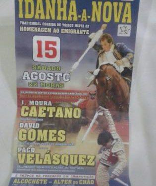 Moura Caetano, David Gomes y Paco Velásques lidiarán seis toros de Paulo Caetano en Idanha-a-Nova