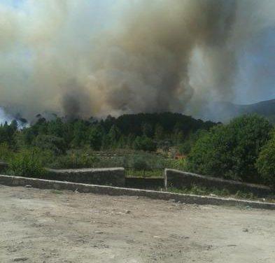 Más de cincuenta medios aéreos y terrestres trabajan en el control y extinción del incendio de Acebo