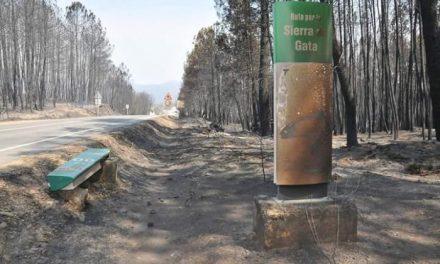 El alcalde de Hoyos confirma que el incendio ha arrasado el 90 por ciento del término municipal