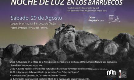 Los Barruecos acogerá este sábado un espectáculo de luces para potenciar el voto como Mejor Rincón