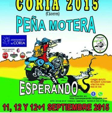 La Peña Motera Esperando celebra este fin de semana la XIII Concentración Coria 2015