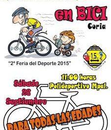 El Club Ciclista Cauriense y el consistorio organizan una ruta urbana en bicicleta para todas las edades