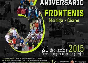 La Asociación de Frontenis de Moraleja continúa con los preparativos para el III Torneo Aniversario